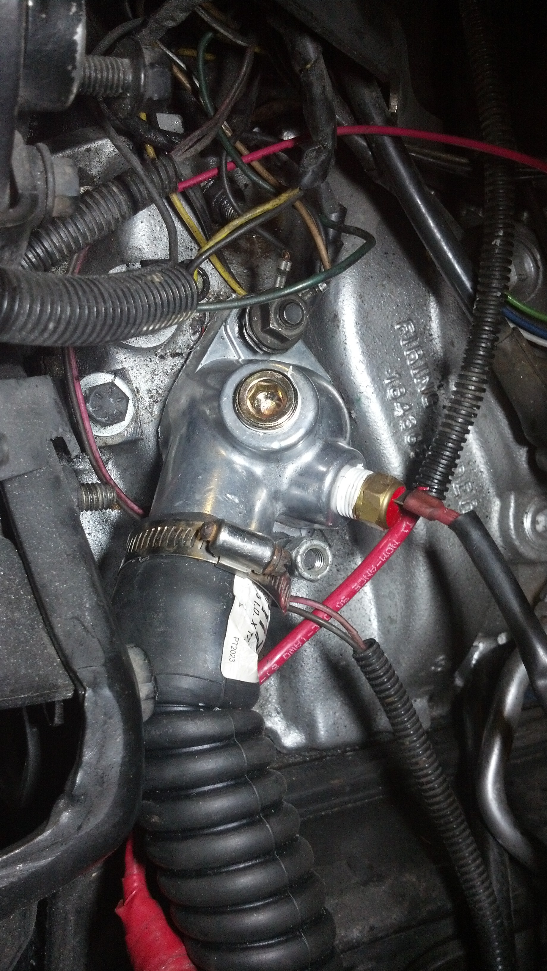 Thermostat housing with threaded...