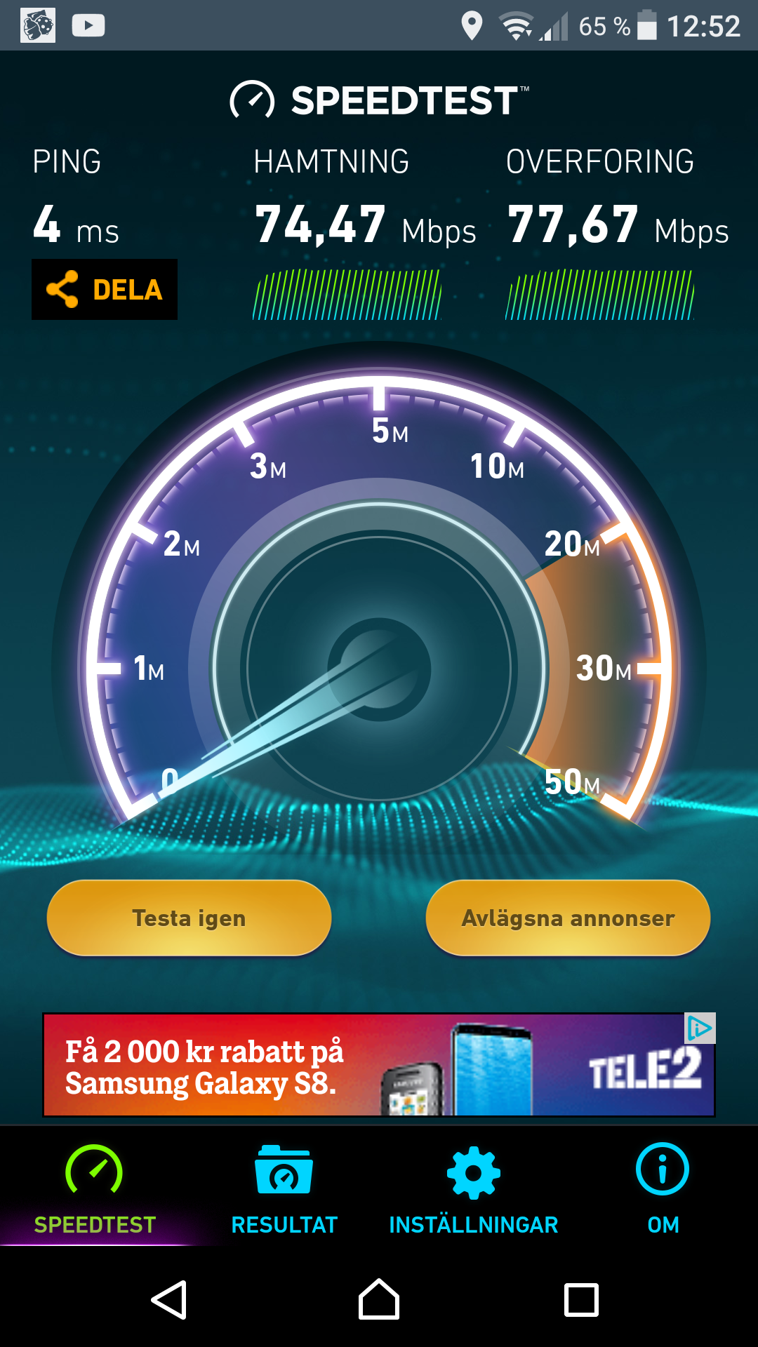 Bandwidth/Speed Tests