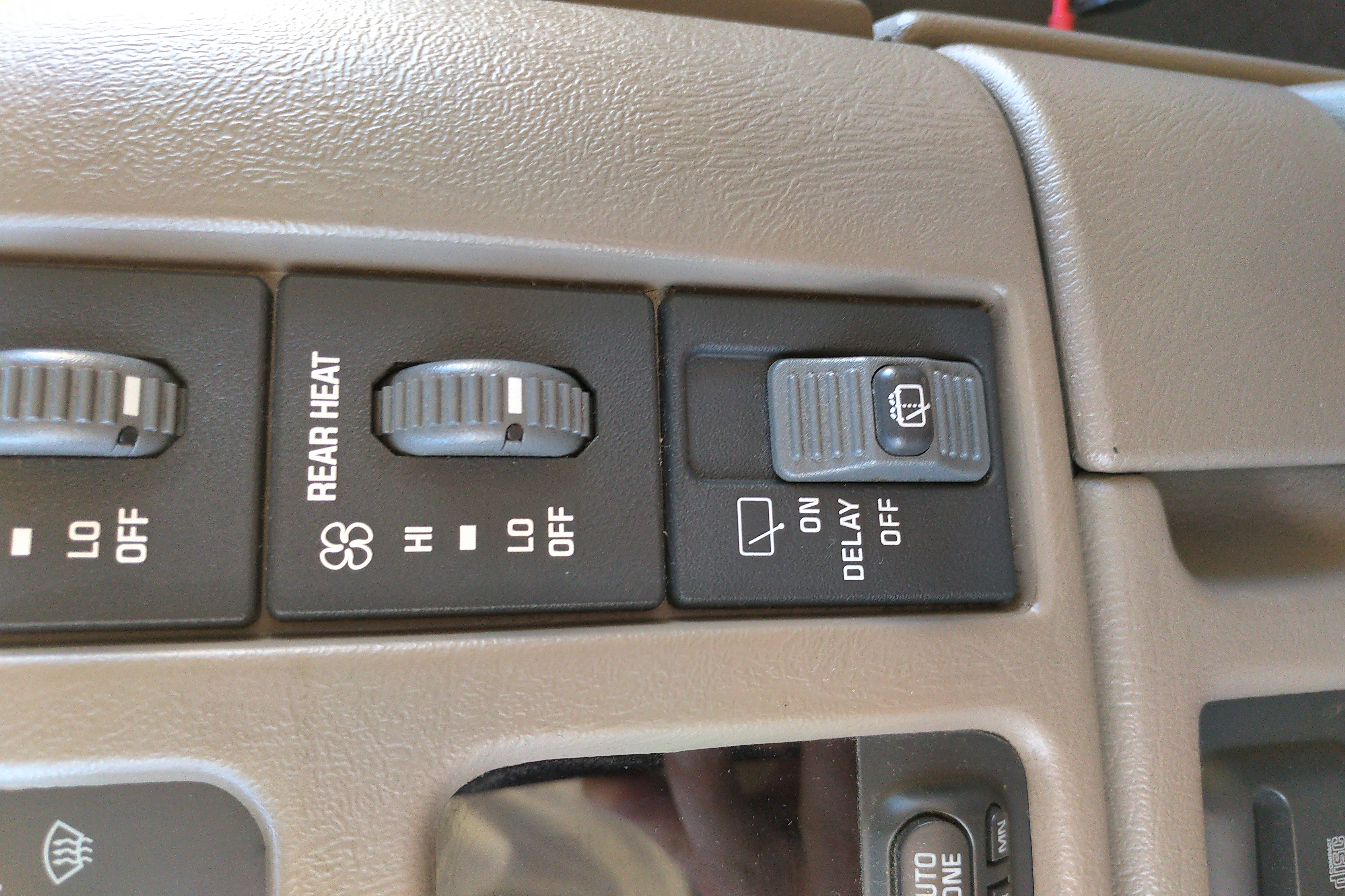 Rear wiper switch button
