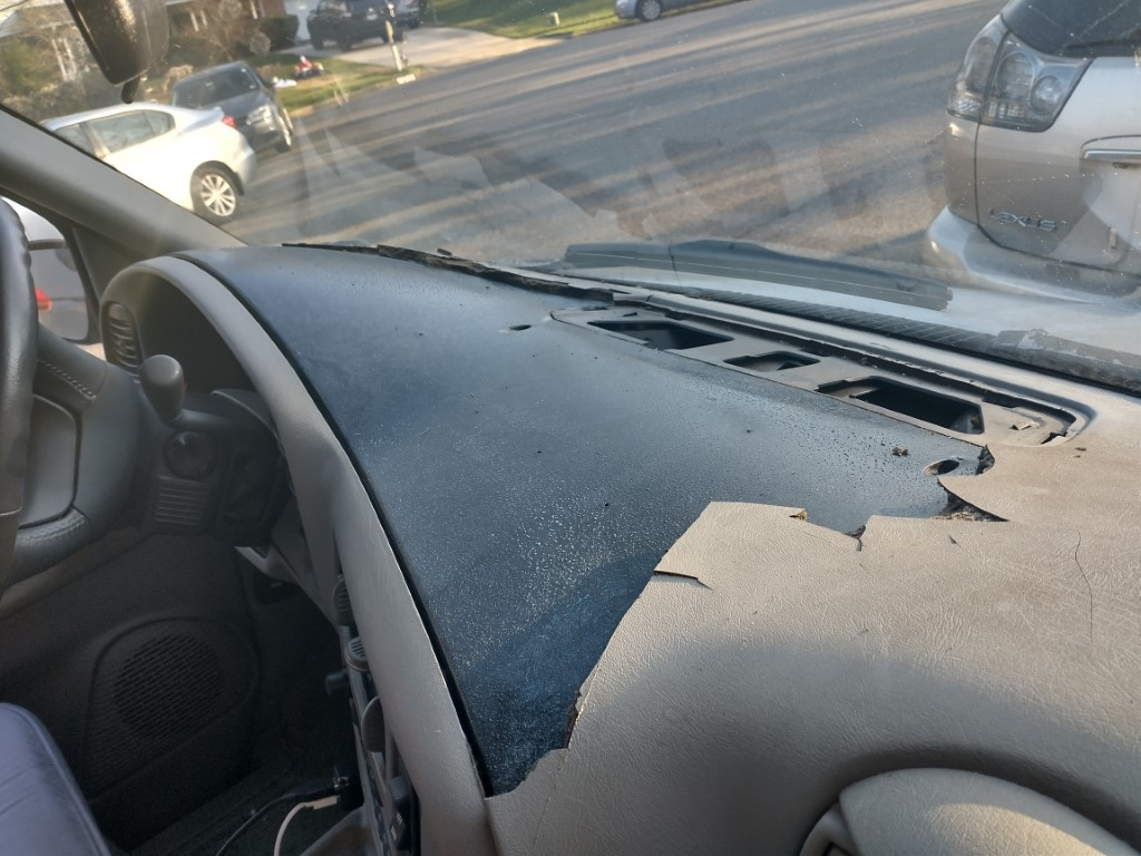 Cracked dash removal and replace...