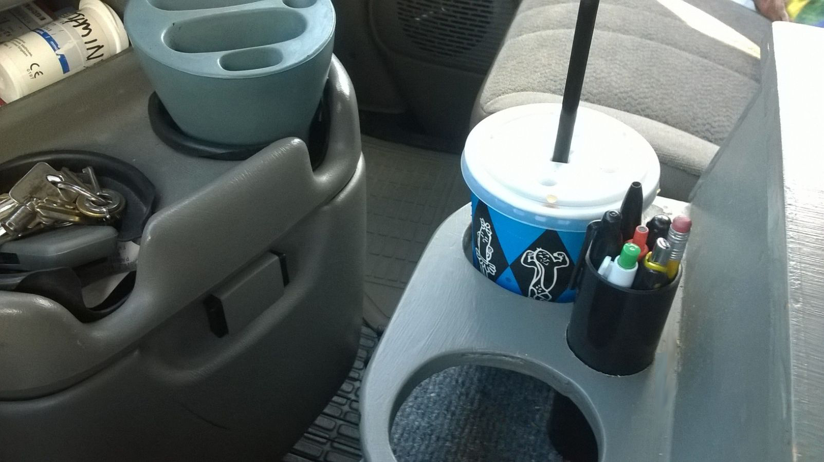 Homemade center console