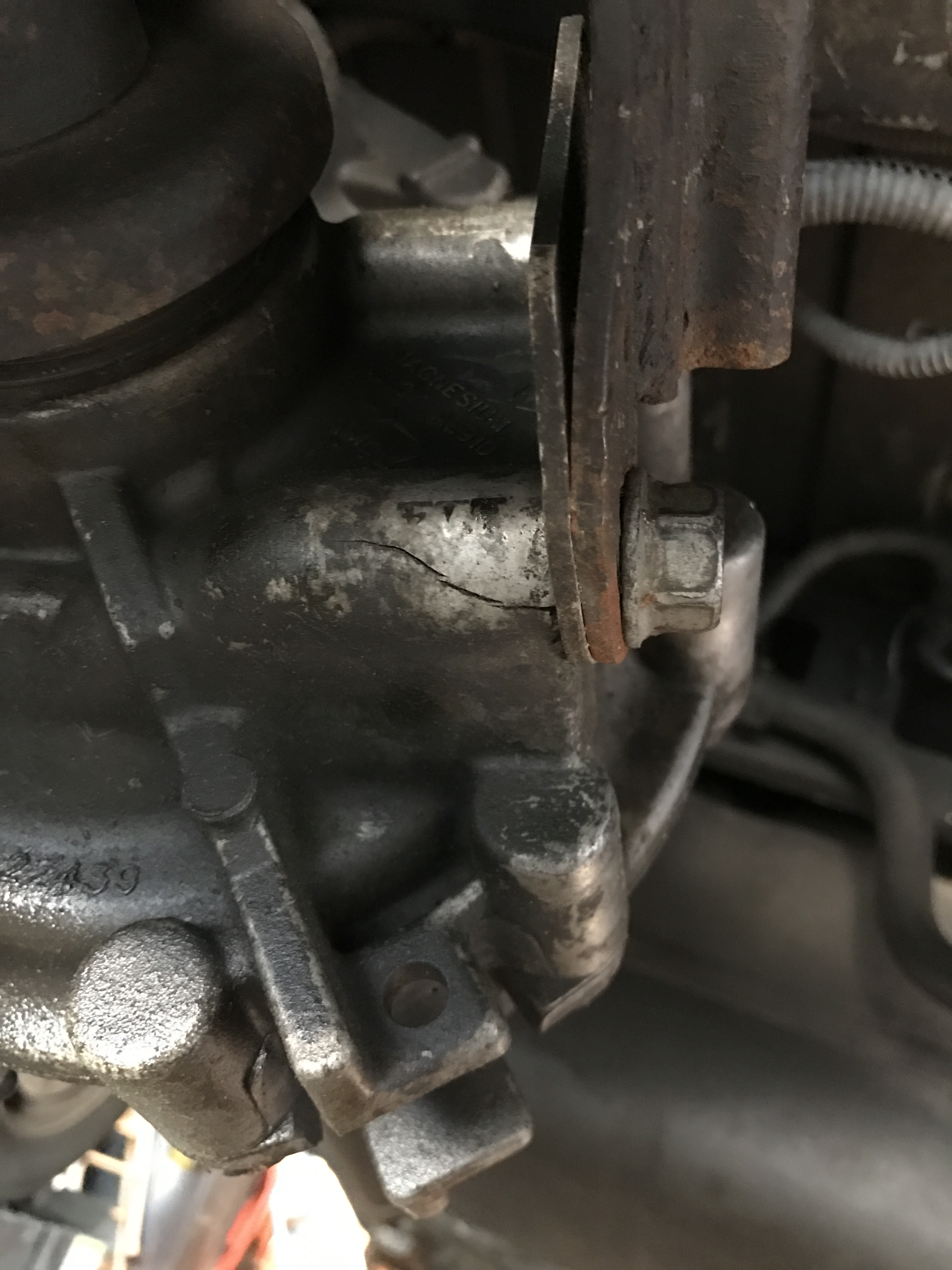 cracked transfer case