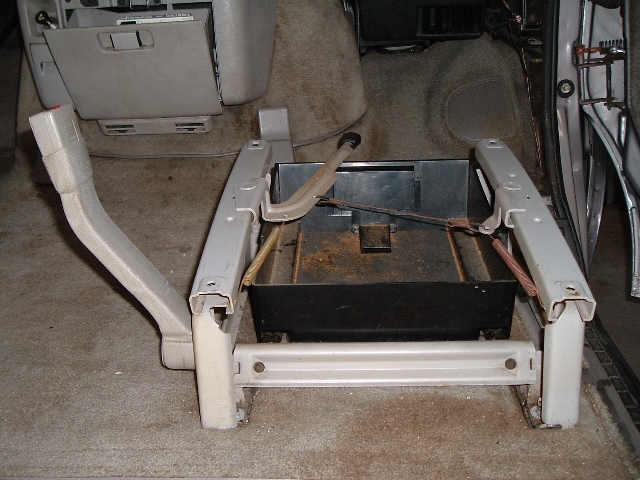 204 Pass seat chair removed - drawer assy - rear view