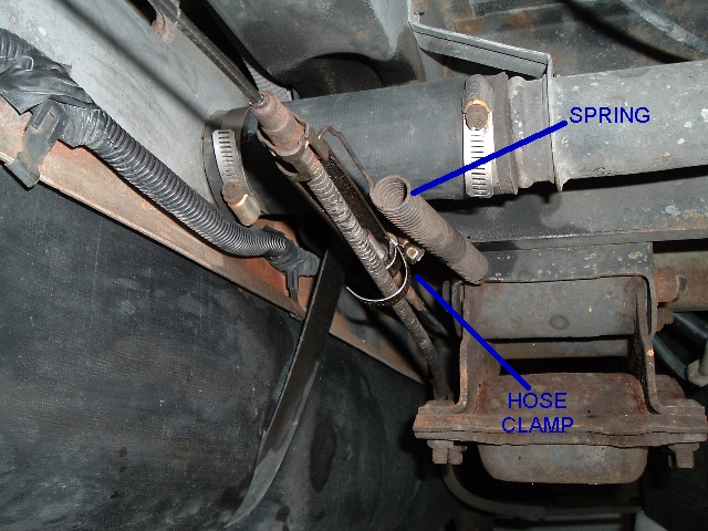 358 E Brake cable-spring-clamp