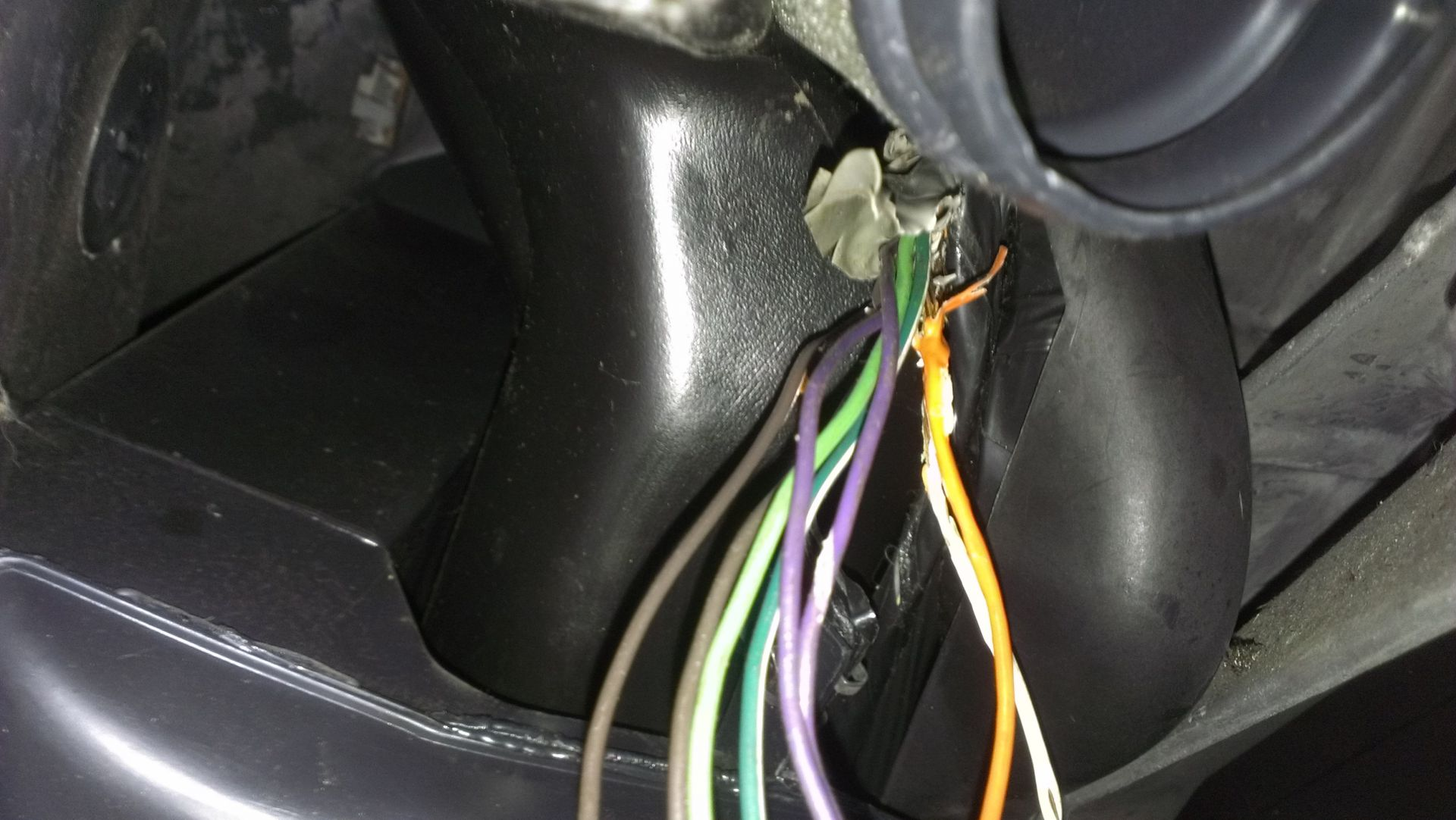 astro wires under dash shorting out