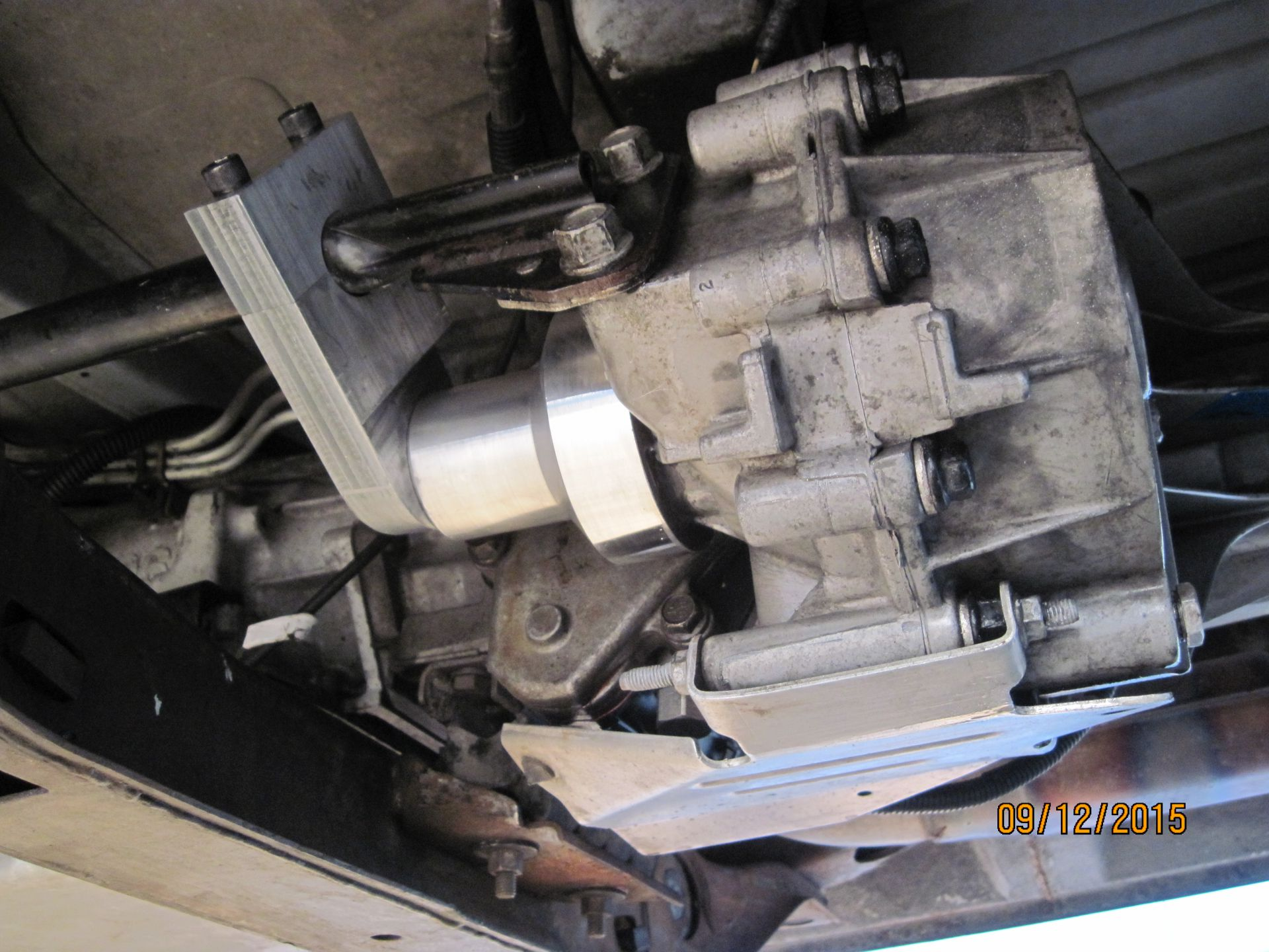Cap to cover output shaft from transfer case.