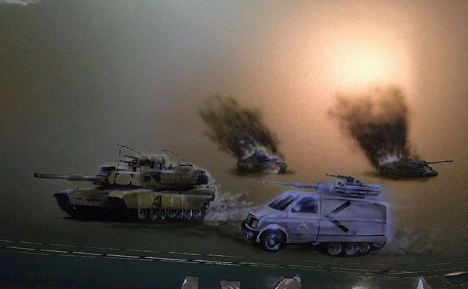 Tank battle done