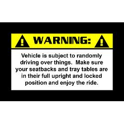 warning rectangle stickers